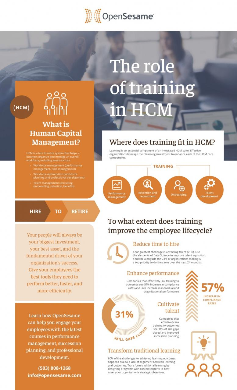 The role of training in HCM infographic
